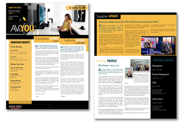 Roxie Leigh Design Marketing Consultant – Company Newsletter